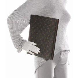 Louis Vuitton-Grande couverture de l'agenda-Marron