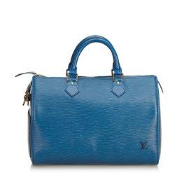 Louis Vuitton-Epi Speedy 30-Bleu