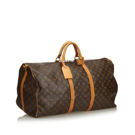 Louis Vuitton-Monogram Keepall Bandouliere 60-Marron