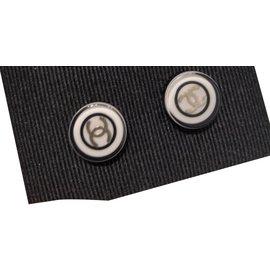 Chanel-Boucles d'oreilles-Noir
