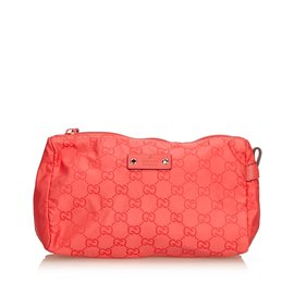 Gucci-Pochette en nylon GG-Rouge