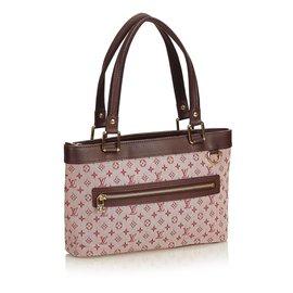 Louis Vuitton-Monogramme Mini Lin Lucille PM-Marron,Rose