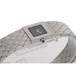 Chanel-Quilted Mademoiselle Watch-Silvery