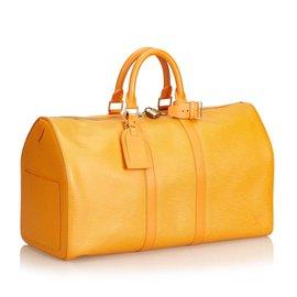 Louis Vuitton-Epi Keepall45-Orange