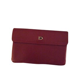 Delvaux-card holder-Red