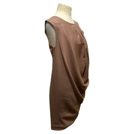 Halston Heritage-Halston Heritage draped dress-Flesh