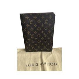 Louis Vuitton-Couverture de bureau-Marron