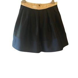 Claudie Pierlot-Jupe noire Claudie Pierlot-Noir,Écru,Bleu Marine ... 9072f6fd78b0