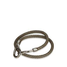 Hermès-Bracelet Double Tour Jumbo Hook-Argenté,Gris