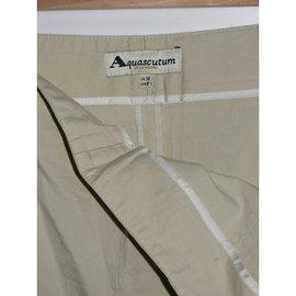 Aquascutum-Pantalon Auascutum-Beige