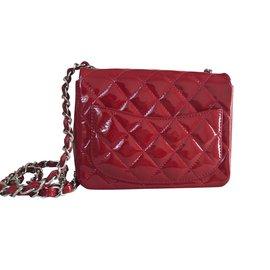 Chanel-Mini flap Bag-Rouge