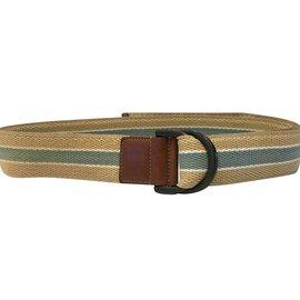 Gucci-Gucci ceinture Vintage bleue et beige-Marron,Beige,Bleu clair