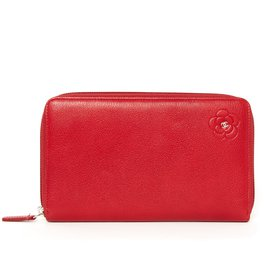 Chanel-WALLET CAMELIA RED-Rouge