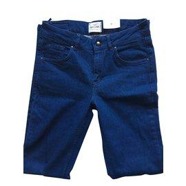 SéZane-Pantalons, leggings-Bleu