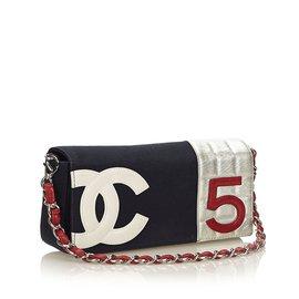 Chanel-NON. 5 Sac de chaîne-Blanc,Multicolore,Écru