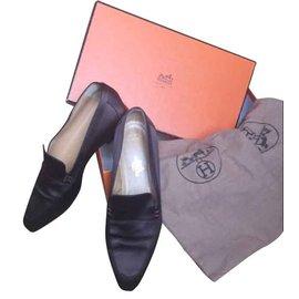 Hermès-Loafers-Brown