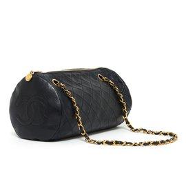 Chanel-TIMELESS NAVY POLOCHON-Bleu Marine
