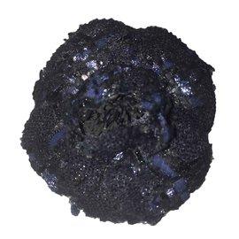 Chanel-Broche Chanel-Gris anthracite,Bleu Marine
