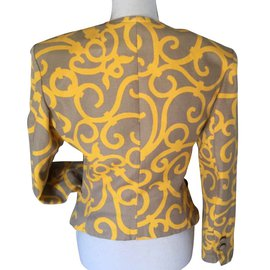 Yves Saint Laurent-Blazer chic-Jaune