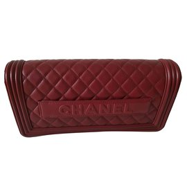 Chanel-Chanel clutch-Dark red