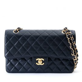 Chanel-TIMELESS CLASSIC 25 BLACK CAVIAR-Noir