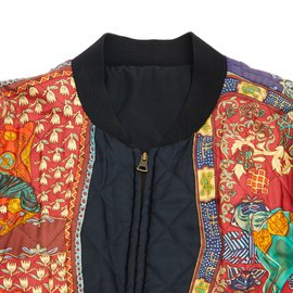 Hermès-reversible silk FR50-Noir