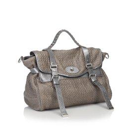 Mulberry-Metallic Cotton Weave Alexa-Brown,Silvery
