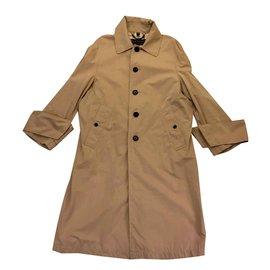 Burberry-manteau de voiture burberry beige nouveau 100Chemise-Beige