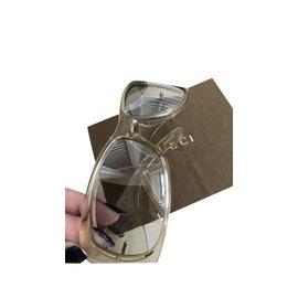 Gucci-Lunettes de soleil transparentes-Beige