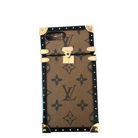 Louis Vuitton-Coque iPhone 7 ou 8 plus-Marron