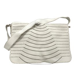 Fendi-White messanger/weekend bag-White