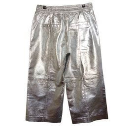 Mango-Pantalons, leggings-Argenté