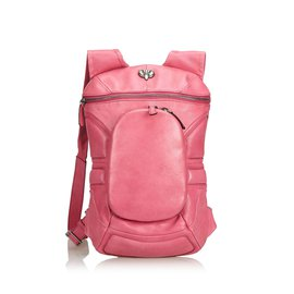 Céline-Leather Backpack-Pink