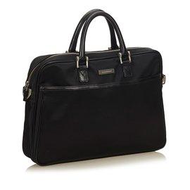 Burberry-Nylon Business Bag-Black