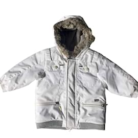 Baby Dior-Boy Coats Outerwear-White