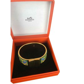 Hermès-Bracelet Email-Doré