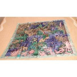 Hermès-JARDIN DE SINTRA-Rose,Vert,Bleu foncé