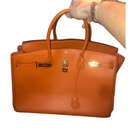 Hermès-Birkin-Orange