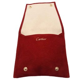 Cartier-Travel pouch for jewelery / watches CARTIER-Red