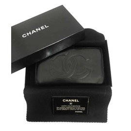 Chanel-Chanel wallet in black leather-Black