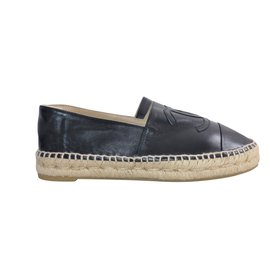 Chanel-Espadrilles-Black