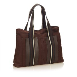Hermès-Sac Troca Horizontal MM-Brown,Black,Dark brown