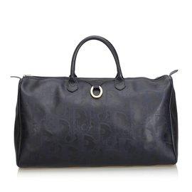 Dior-Oblique Duffle Bag-Bleu,Bleu Marine