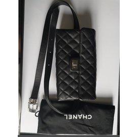 Chanel-Sac de ceinture Chanel-Noir