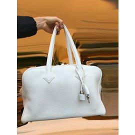 Hermès-Taurillon clemence victoria ii 35 Sac-Blanc