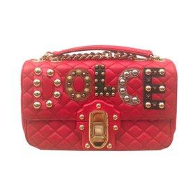 58d45507e5 Dolce   Gabbana-Sac Dolce   Gabbana Lucia-Rouge ...