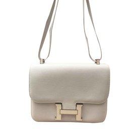Hermès-Sac Hermes Constance 23-Blanc