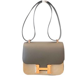 Hermès-Sac Hermes Constance 24-Gris