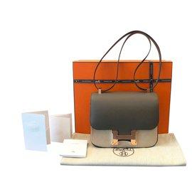 Hermès-Hermes bag Constance 24-Grey