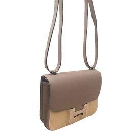 Hermès-Hermes bag Constance 18 Gray Seagull-Grey